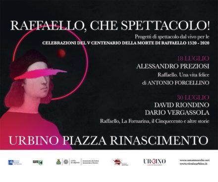 Raffaello: una vita felice. Alessandro Preziosi ad Urbino.