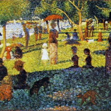Georges Seurat crea il movimento puntinista.